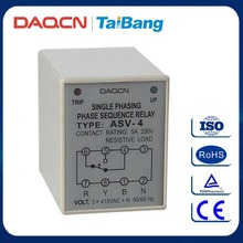 DAQCN ASV-4 5A 250V Phase Sequence Phase-failure Protection Relay Device Protected Relay