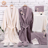 Alibaba Bathrobe And Slippers Gift Set