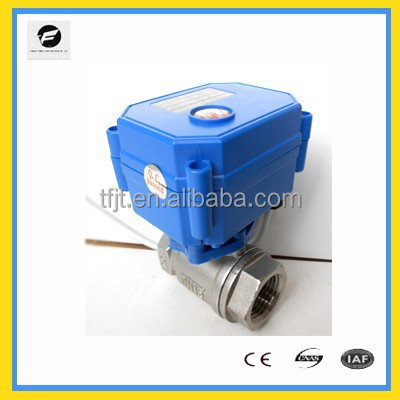 "3-6VDC,12VDC 2-way electric actuator valve with 1"" stainless Steel material for IC card water meters,reuse of grey water system"