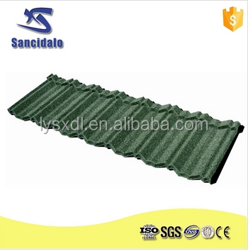 Lowest price stone coated roofing tile in various colors concrete roof tile
