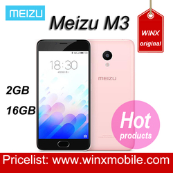 The latest Original internatioanl Meizu m3 mini 2GB ROM 16GB ROM smartphone 4G LTE