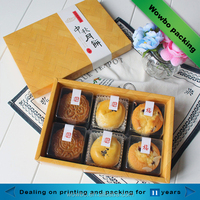 Yellow rectangle paper empty box for mooncake/cake/dessert/baking