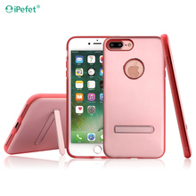 Luxury kickstand phone cases for iPhone 7 Aluminum case