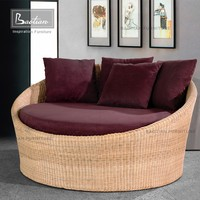 rattan round bed modern half round bed designs wood sofa furniture pictures