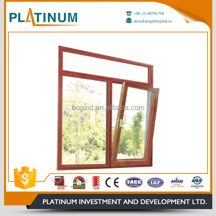 Long service life residential jalousie glass inward tilt turn window