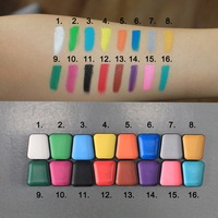 Hot Sale Wasable Face Paint with Stencils with Brush Multi Color Body Painting