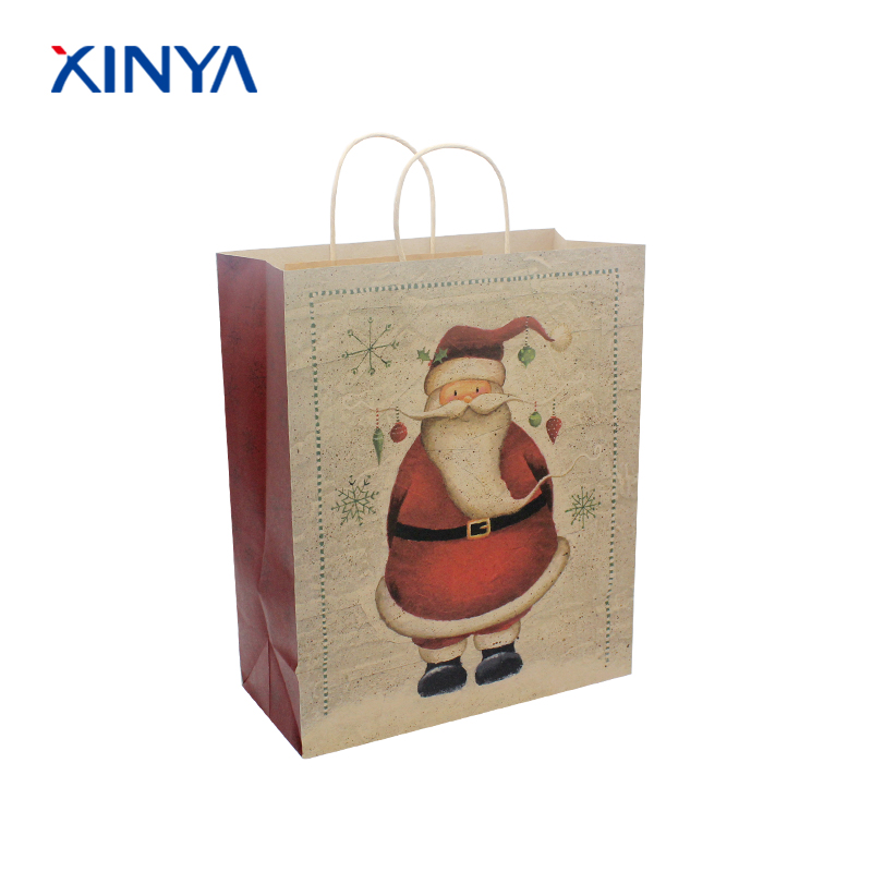 High grade price list kraft paper gift bag for food