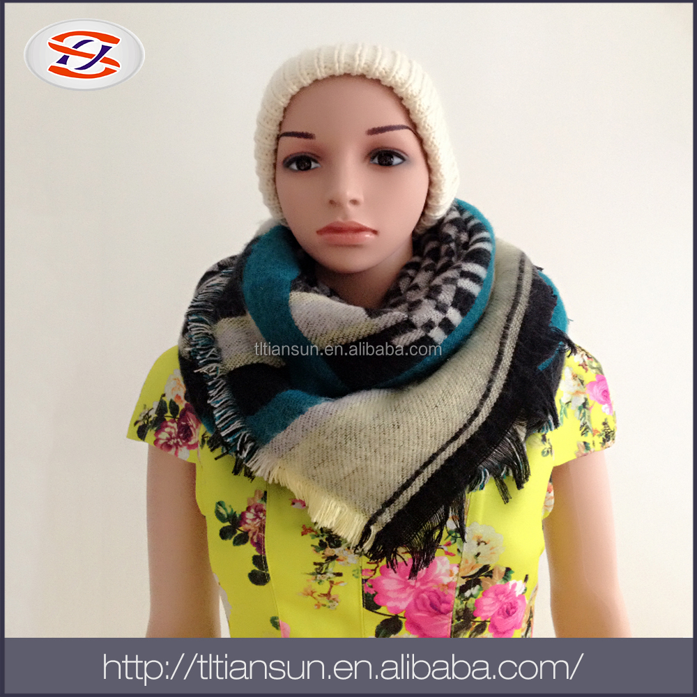 China Wholesale Websites chiffon infinity scarf/ ladies kerchief