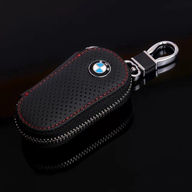 Promotional gift real leather 100% handmade compact key wallet car key case