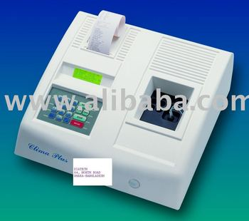 SEMI AUTOMATED CLINICAL BIOCHEMISTRY ANALYZER WITH 10 POSITIONS THEROSTATE FOR INCUBATION.
