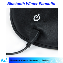 2015 hands free call Bluetooth Music Stereo Headphone Winter Warm Leather Earmuff for joy life