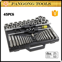 Free Sample Hand Tools Kit 45PCS Alloy Steel UNC & UNF Tap and Die Set