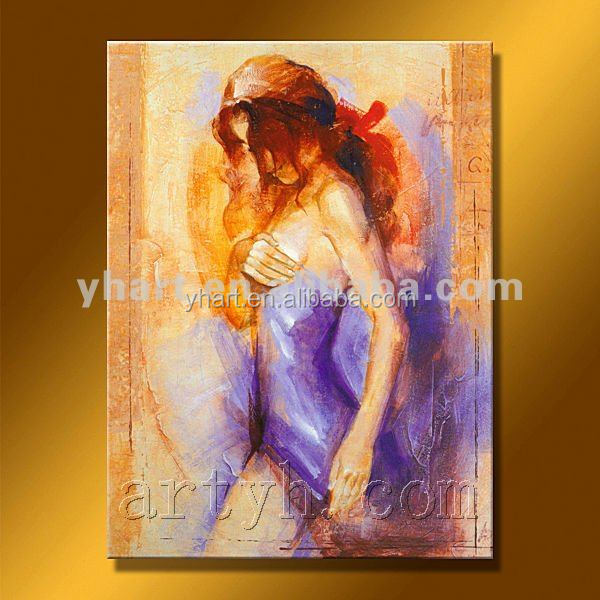 Hot Sell Handmade Womens Oil Painting Hot Sex Images