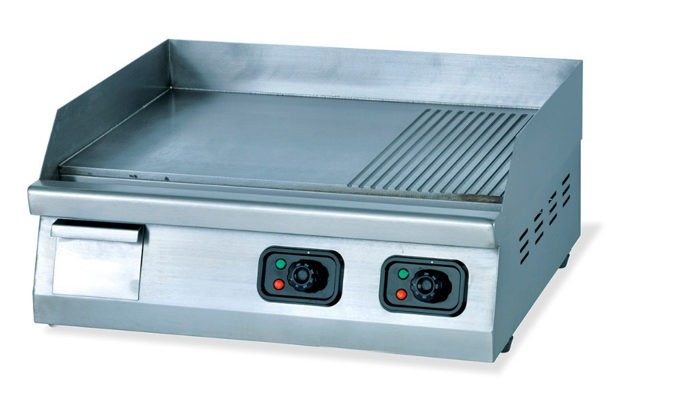 Factory Price Electric Stainless Steel Flat Plate Grill Griddle with Teppanyaki and Pancake Griddle(OT-822)