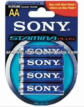 High Quality Sony Stamina Plus Alkaline 4 Piece AA Battery
