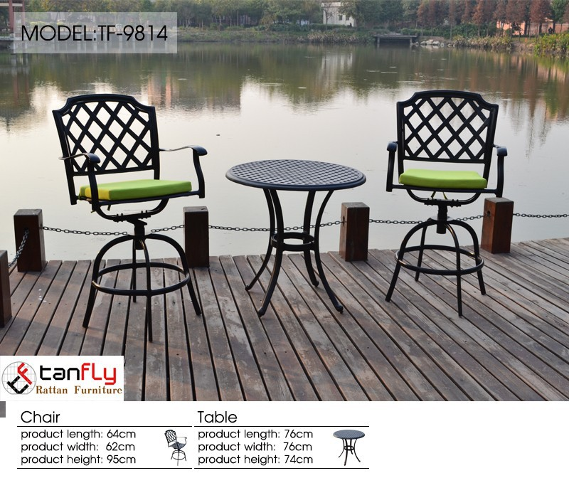 High quality durable special foot stool cast aluminum patio furniture outdoor table sets