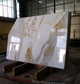 Italy calacatta gold white marble slab with gold vein