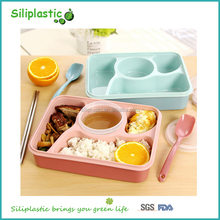 Picnic compartment all in one kids plastic lunch box