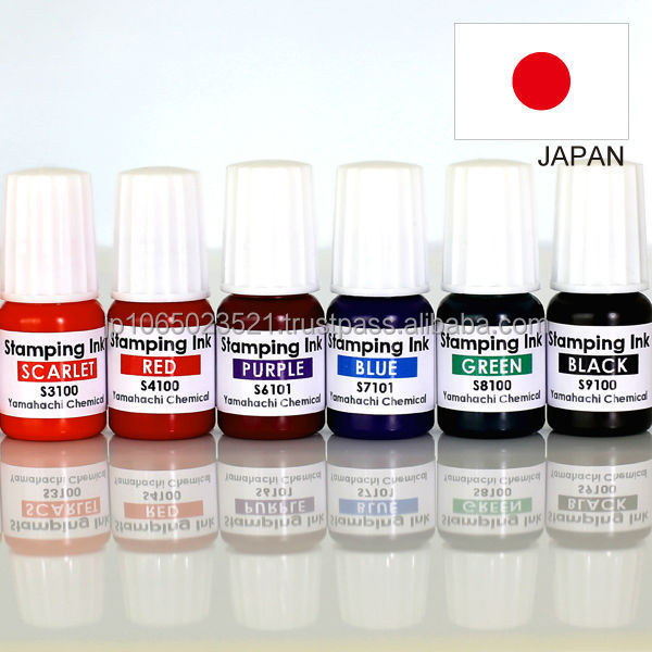 Various colors of flash ink for making flash stamp as craft supply