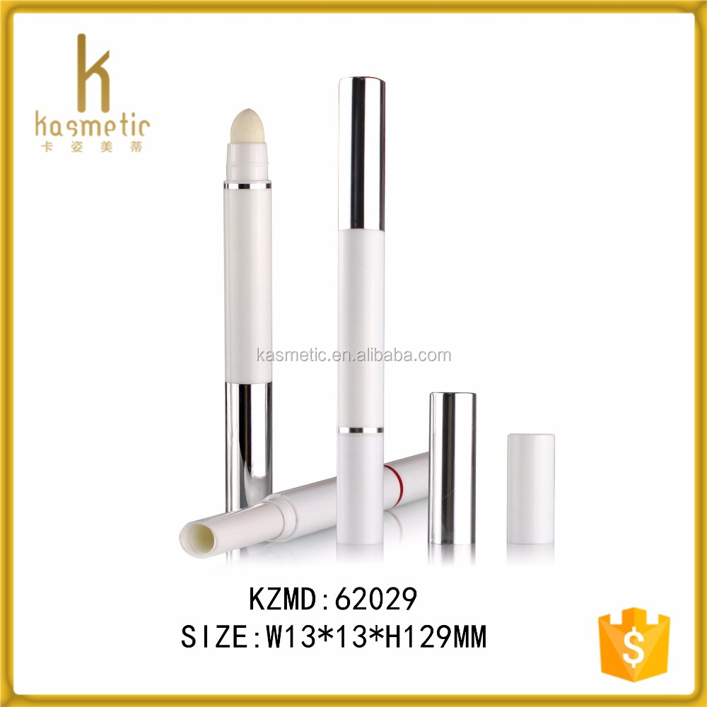Double ended air cushion elegant white lipstick tube packaging
