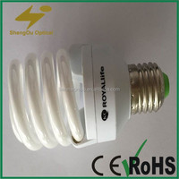 pure tricolor 5W 8W 13W 15W 22W 32W energy saving lighting bulbs.full spiral lamp