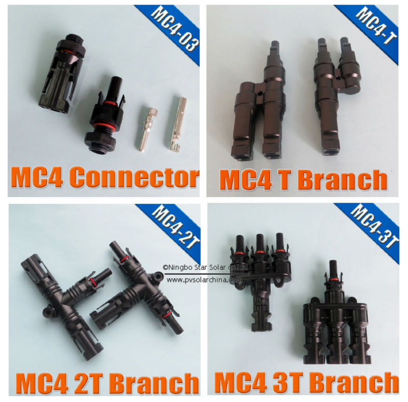 MC4 T Branch mc 4 multi Solar Connector, TUV Standard Waterproof IP67,Cheap Price