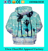 New Sweatshirt Hoodies Coconut Tree 3D Print Hip Hop Coats Casual Sweatshirt Sportswear
