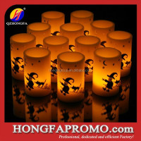 Embossed and Painted Spider Design Wax Halloween Candles