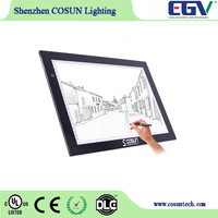 2016 hot Ultra Thin A4/A3/A2 LED Art Table Light Box Pad Drawing Tracing Unique copy board