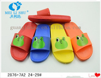 CUTE GREEN FLOG EVA COMFORT KIDS OUTDOOR SLIPPERS SANDALS