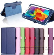 Leather Flip Cover Protective 7 inch Tablet PC Folio Case for Samsung Galaxy Tab 4