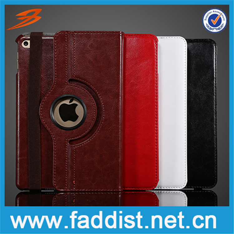 For iPad mini 4 stand case with two card slots Crazy Horse Pattern leather case