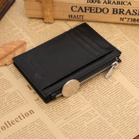 Mini genuine leather coin wallet