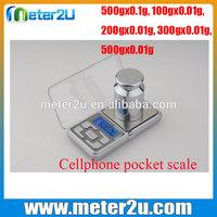 color smart cellphone digital scale 0.01 pocket HDS-02