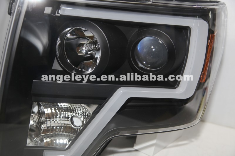 2013 To 2014 Year For FORD F150 Raptor LED Strip Head Lamp Black Housing LF