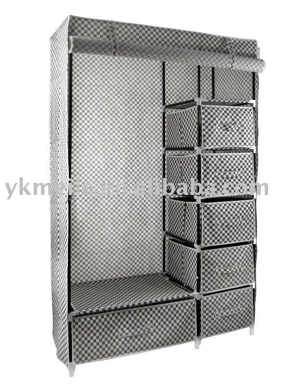 No tejido armario otros muebles de metal identificaci n - Armario ropero tela ...