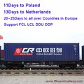 Railway freight shipping agent faster then sea freight from china to dublin of ireland