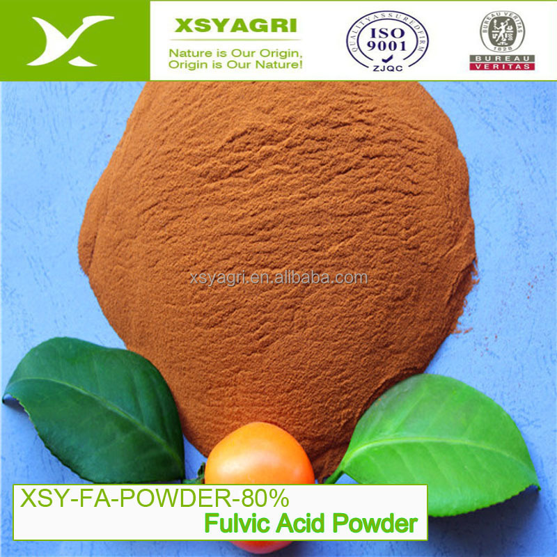 Organic fertilizer yellow-brown powder Compound Fulvic Acid 100% soluble for anti-flocculation