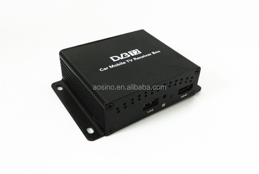 Highest quality high speed car dvb-t2 digital tv receiver tuner box with dual tuner