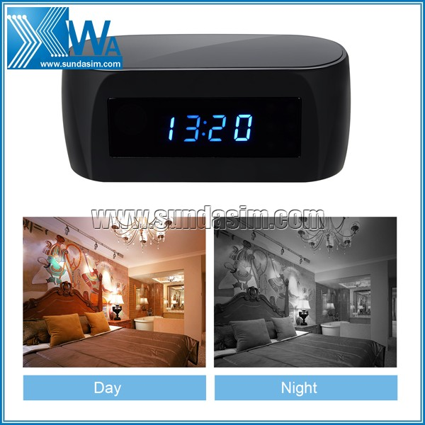 HD 1080P P2P Wifi Hidden Camera Alarm Clock Remote Surveillance Cameras Mini Video Recorder Night Vision...