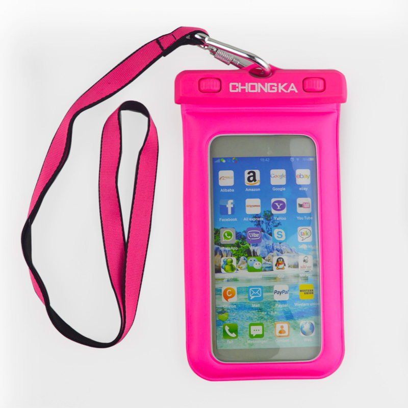 2016 Trendy Style PVC Waterproof Mobile Phone Case With Strap