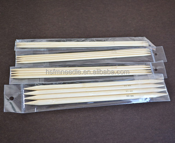 2.0-12.0mm Double Point Bamboo Knitting Needle For Yarn Woolen Blanket Knitting Needle Set