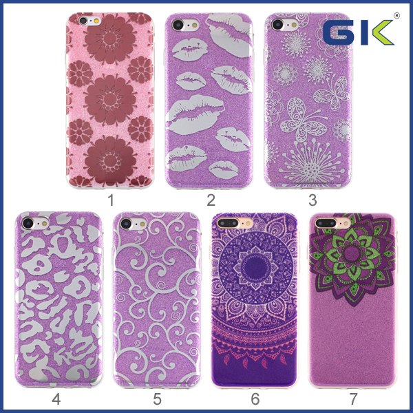[GGIT] Fashion Double Sided IMD Glitter Screen Printing Cell Phone Case For IPhone 6 TPU Cover