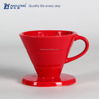 Pure Red Restaurant Used Fine Porcelain High Quality Drain Cup