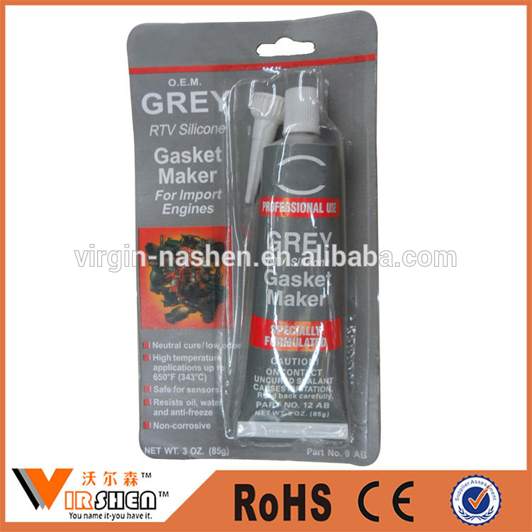High tempreture resistant Grey RTV Silicone (Gasket Maker) for Auto Parts,engine oil seals silicone