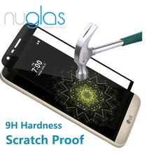 Nuglas Top Quality Anti-broken Full Cover 3D Curved 9H Tempered Glass Screen Protector for LG G5