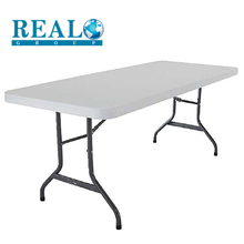 Outdoor furniture cheap foldable plastic table folding restaurant 6-8 seats tables