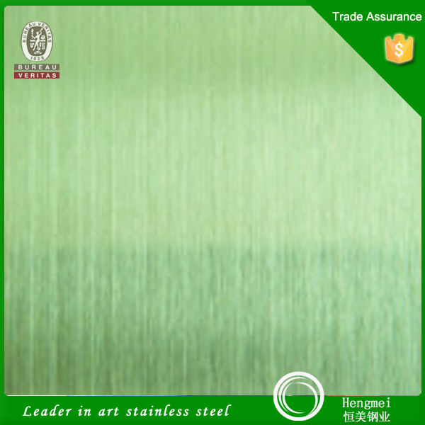 No. 4 Brushed Finish Stainless Steel Green Color Sheet Decorative 304