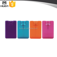 flat shape mini credit card 20ml perfume bottle with PP material