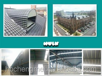 wind proofing rustless synthetic resin asa coated pvc roof tile